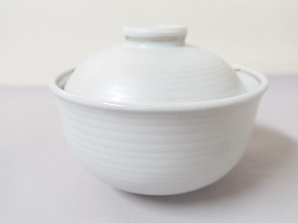 【有田焼】銀彩プラチナ内白3.5寸蓋物