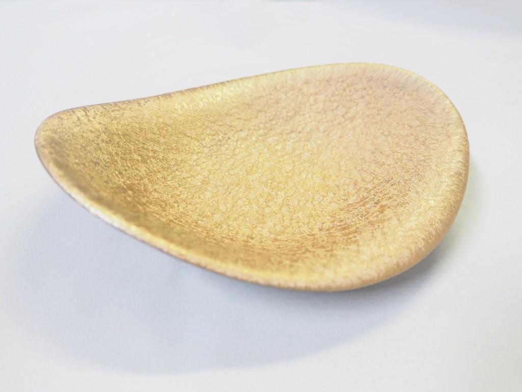 【有田焼】ブロンド雲母はんなり楕円皿
