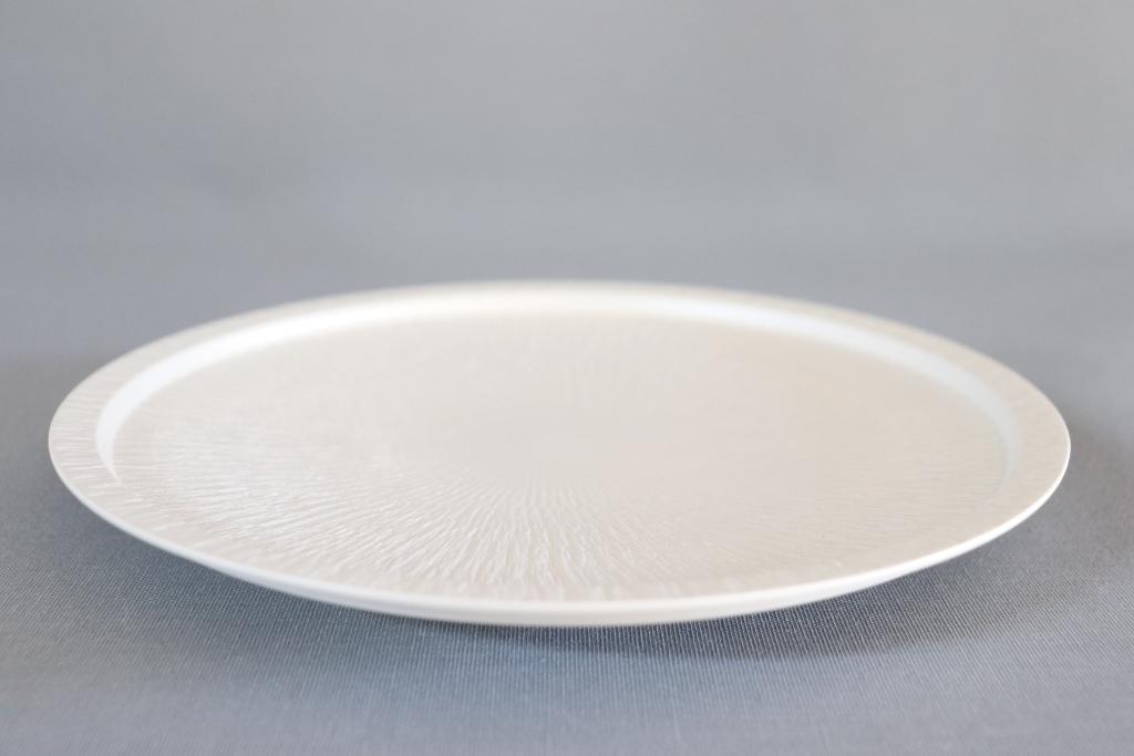 【有田焼】高台白雲母銀飛び鉋210伊万里皿