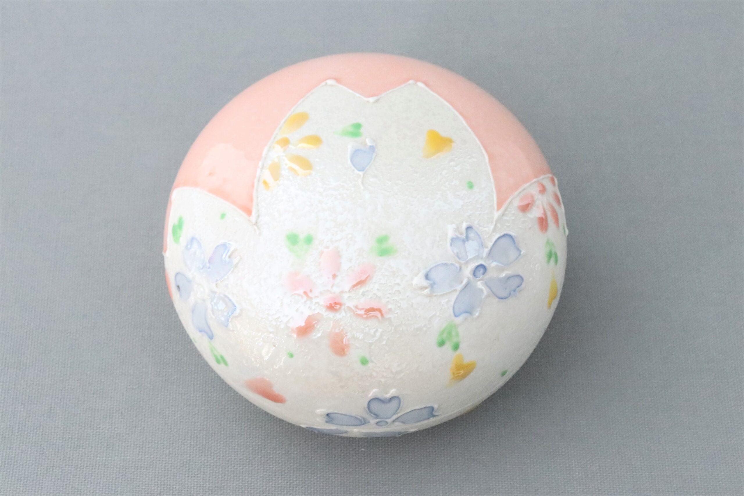 【有田焼】桃釉桜 丸ボンボンニエール
